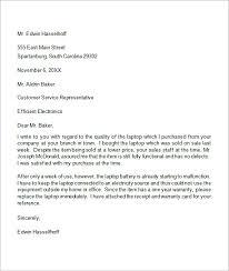 Formal Letters Of Complaint Example Complaint Letter Under Fontanacountryinn Com
