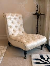 Slipper Chair Regency Silk Covered Slipper Chair Parlour Room Interiors