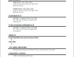 Sample Resume College Student No Experience Sample Resume For A