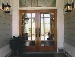 Double Exterior Doors Colonial 6 Panel Solid Fir Entry Double Door