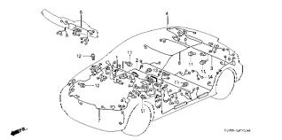 honda online store 2000 civic wire harness parts 2000 honda civic engine wiring harness diagram at 2000 Civic Wiring Diagram