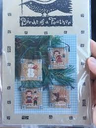 White Christmas Birds Of A Feather Cross Stitch Pattern Boaf