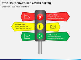 Red Ppt Stop Light Chart Red Amber Green