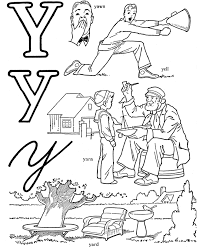 Small Picture coloring page for CONSONANT sound of y this does not show the