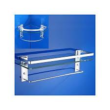 bathroom glass tempered shower shelf storage soap dish rack corner wall mounted 48 5 11 5