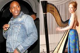 This <b>David Bowie</b>-<b>loving</b> harpist has a wild link to Dave Chappelle