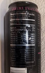 monster can nutrition facts. Unique Nutrition Note This Can From My Collection Says 2 Servings Per Container And Uses A  Supplement Facts To Monster Can Nutrition