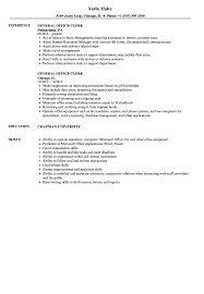 General Office Clerk Resume Samples Velvet Jobs