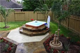 image of hot tub landscaping design