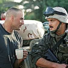 Eric Kocher & Owain Yeoman who plays Eric in Generation Kill ...