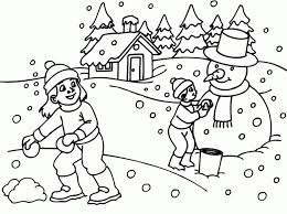 Small Picture Free Winter Coloring Pages For Kids Printable Coloring Home