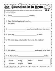 There are differences in opinion about whether using phonics is useful in teaching children to read. Br Blend Activities Worksheets