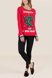 Christmas Cactus Light Up Christmas Cactus Light Up Sweater Francescas