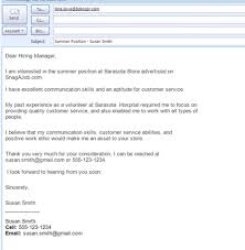 sample email for job application best formats for sending job search emails projects to try