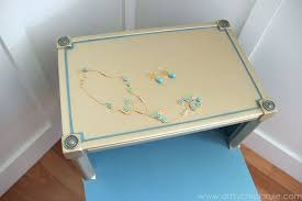 painted furniture makeover gold metallic. Jewelry Inspired Turquoise Gold Metallic Makeover, Chalk Paint, Painted Furniture, Repurposing Upcycling Furniture Makeover