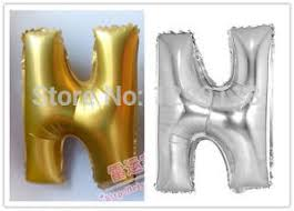 16 inch silver gold foil letter shaped balloons party birthday wedding decorative balloons letter h