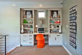 home office furniture wall units. Wall Unit Desk Kids Contemporary With Baseboards Built In Orange. Image By: Bryant Hill Media Home Office Furniture Units O