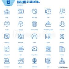 Stroke Communication Chart Thin Line Business Essential Communication And Office Icons