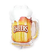 <b>1pc</b> Beer Mug <b>Cheers</b> Shape Foil Balloon Party Supplies Balloon 28 ...