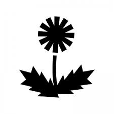 タンポポのシルエット 無料のaipng白黒シルエットイラスト