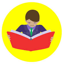 man reading open book stock vector ilration of holding 87339495