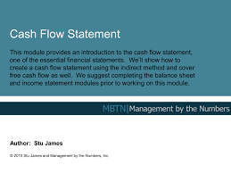 Creating A Cash Flow Statement Cash Flow Statement Management By The Numbers