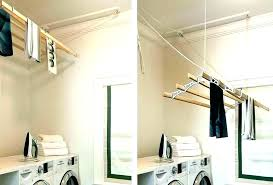 hanging clothes drying rack full size of wall dryer laundry mounted pottery barn kids room enchanting