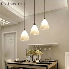 creative dining room chandelier. Restaurant Chandelier Modern Minimalist Three Creative Dining Table Lamp  Fashion Personality Room LED Living