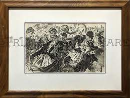 winslow homer harper s weekly june 13 1863 hand rubbed hardwood frame linen achrival mat image 9 1 2 x 14 1 frame 16 x 20 1 4
