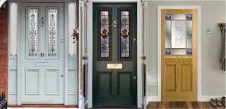 decorative glass front door