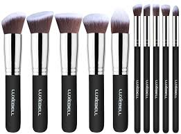 anastasia brush kit. makeup brushes, luxebell cosmetics professional essential 10pcs make up brushes set powder brush kit (silver + black) - official webiste anastasia