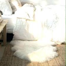 round sheepskin rugs white faux rug fur fake for baby organic