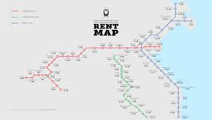 the daftie dublin rail rent map by stop  daft insights