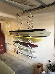 Surfboard Display Stand Adjustable Metal Surfboard Wall Rack 100 Boards StoreYourBoard 82