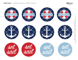 Free Nautical Birthday And Baby Shower Party Printables Catch My Party