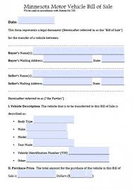 automobile bill of sale as is free minnesota motor vehicle bill of sale form pdf word doc