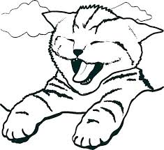 Kitten Coloring Pages To Print Out Cute Kitten Colouring Pages To