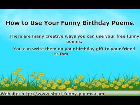 short birthday poems for friends
