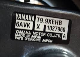Image result for yamaha outboard serial number decal