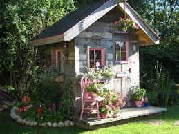 Outdoor , Get Inspiring Ideas Through These Beautiful Garden Shed Pictures  : Chic Small Shed For
