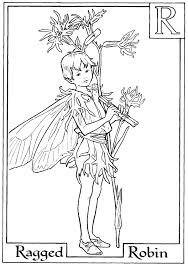 Small Picture Letter R For Ragged Robin Flower Fairy Coloring Page Activity