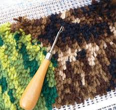 turn your small piece of latch hook work into a rug