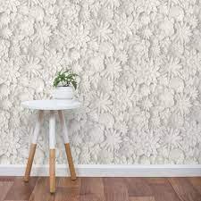 3D floral wallpaper from Wayfair