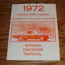 1972 dodge dart demon plymouth valiant duster wiring diagram manual 1972 Plymouth Wiring Diagrams image is loading 1972 dodge dart demon plymouth valiant duster wiring