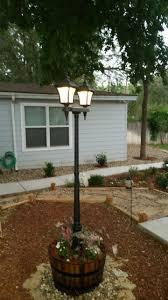 Light Post Planter Diy Solar Lamp Post In Whiskey Barrel Solar Lamp Post