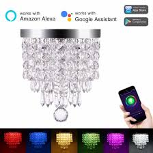 lohas wifi smart crystal light work with alexa colour changing app smartphone controlled ceiling light