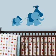 all decals nursery wall decals mom and baby elephant wall decal