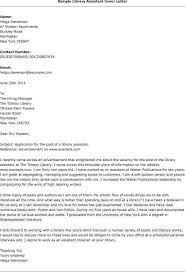 Cover Letter For Library Assistant Job Cover Letter Template Library Assistant Cover Letter
