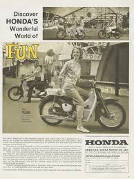 vintage honda motorcycle ads. items similar to 1962 honda 50 motorcycle ad woman riding motorbike photo vintage advertisement wall art decor on etsy ads