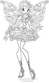 Disegno Di Tecna Butterflix Winx Club Da Colorare